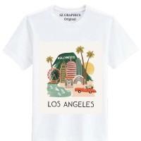 Sz Graphics / Los Angeles / T Shirt Wanita / Kaos Wanita