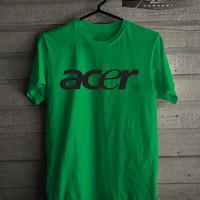 Harga kaos t shirt brand gadget acer logo | antitipu.com