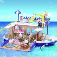 Mainan Rumah Boneka Sylvanian Families Seaside Cruiser With House Boat