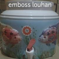 harga Guci Air, Guci Galon, Guci Keramik motif emboss Tokopedia.com