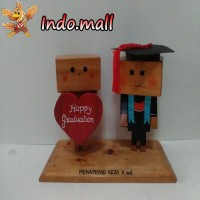harga Boneka Kayu Danbo Wisuda Graduation Kado Romantis Couple Unik Lucu Tokopedia.com