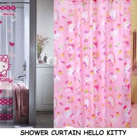 harga SHOWER CURTAIN HELLO KITTY Tokopedia.com
