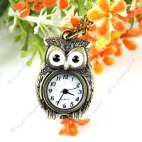 Kalung Jam Antik motif burung hantu ( Vintage Bronze Lovely Owl )