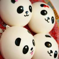 Squishy panda bun medium