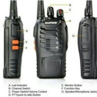 Radio HT BAOFENG BF-888s Handi Talkie Walki Talki radio komunikasi