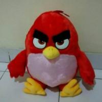 Boneka game burung Angry Birds merah bagus mirip film lembut