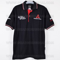 Polo Shirt / Kaos Krah Mitsubishi Motors All New Pajero Sport Hitam