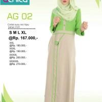 Gamis Alnita AG-02 Coksu Baju Muslim Bahan Kaos CVC