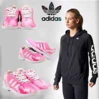 Sepatu ADIDAS Motif Pink | Sepatu Olahraga Cewek Grade Ori Murah