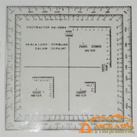 "Douglas Protractor Navigasi Pemetaan Orientering Medan Peta kompas 5"""