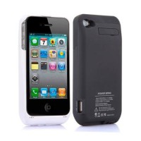 iPhone 4 4S Power Battery 3000mah Back Case Cover Casing Sarung Bumper