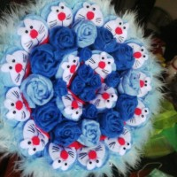 Jual buket bouquet valentine wisuda hadiah boneka doraemon Murah