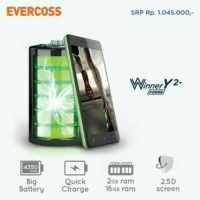 "EVERCOSS R50A WINNER Y2+ 5""/RAM 2GB/16GB/MARSHMALLOW/BIG BATTERY"
