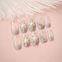 N001 Kuku Palsu 3D/ Nail Art / Fake Nails Wedding For Bride