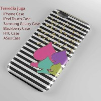 Kate spade stripe Hard case Iphone case dan semua hp