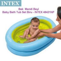 Kolam / Bak Mandi Baby Bath Tub Set Biru - INTEX #48421NP