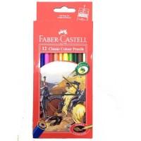 Pensil Warna Faber Castell 12 Warna Classic Long