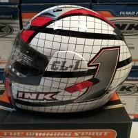harga Helm Ink Cl 1 Uno Full Face Fullface Cl1 Visor White Red Tokopedia.com