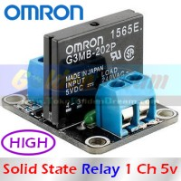 Modul SSR Omron 5v 1 Channel DC Solid State Relay Load 240vAC 2A G3MB