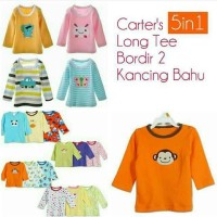 Long Tee Baby Carters Premium 5in1 - Kaos Lengan Panjang Carter 5in1