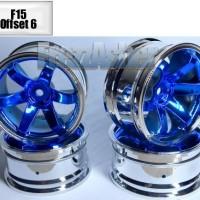 Jual Velg Drift Chrome Blue Celong Model Te37 Murah