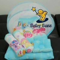 kasur bayi kelambu lipat/bantal guling bayi/baju bayi