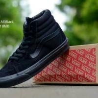 Sepatu Boot casual Pria/cowok brand  Vans tinggi hitam