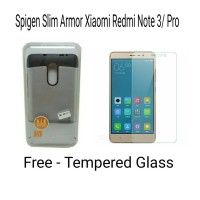 SPIGEN SLIM ARMOR XIAOMI REDMI NOTE 3 / PRO & TEMPERED GLASS