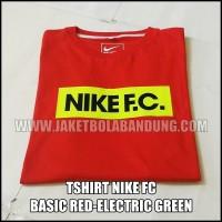 [BISA PILIH WARNA LAIN SESUKAMU] TSHIRT NIKE FC BASIC RED-STABILO