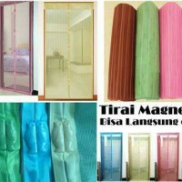 Jual Tirai Pintu Magnet Anti Nyamuk/ magnetic curtain magic mesh Grosir Murah