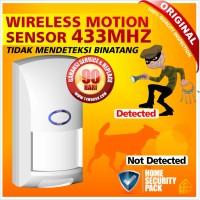 Alarm Sensor Gerak - Motion PIR - Wireless - Pet Immune Technology