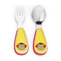 Skip Hop ZOOTENSIL FORK AND SPOON-monkey