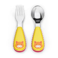 Skip Hop ZOOTENSIL FORK AND SPOON-cat