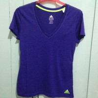harga Adidas Boyfriend Double V Tee Ungu Sz XL. Kaos Gym / Fitness Wanita Tokopedia.com