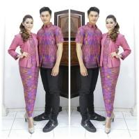 Sarimbit Batik Kemeja dan RokBlus Panjang Kutubaru Ciara Pink