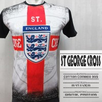 FULL PRINT 3D THAI - ST GEORGE CROSS - UKURAN M 47X67CM - HITAM