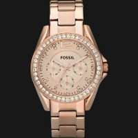 Fossil ES2811 Riley Multifunction Rose Tone Stainless Steel