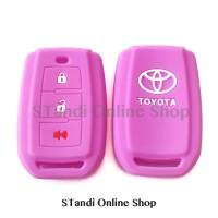 Kondom Kunci Silikon Remote Toyota All New Avanza Ungu
