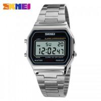 harga SKMEI Casual Men Stainless Strap Watch - 1123 - Silver Tokopedia.com