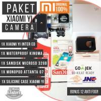 Paket Xiaomi Yi, Monopod, Waterproof Case, Micro SD 32gb (lengkap)