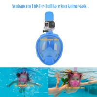 Kids Full Face Dry Snorkeling Mask - Blue