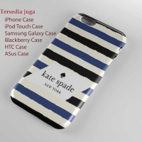 kate spade stripe blue Hard case iphone case dan semua hp