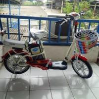 Harga Promo Sepeda Listrik Super Rider Type Mars Platinum dg spion