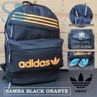 Tas ransel adidas samba black check oranye free ra X7FK