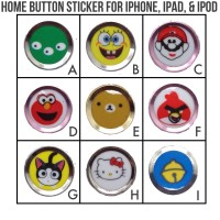 Home Button / Touch ID / Tombol Sticker iphone Apple Ipad - TIHBP