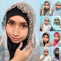Hijab / Jilbab Instan Hoodie Pesta - Hitam