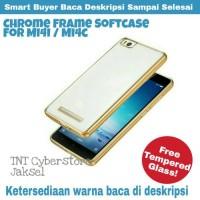 Mi4i Mi4c Paket Tempered Glass Chrome Frame Tpu Silicon Case Xiaomi 4i