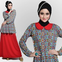 Busana Muslim / Gamis Shejab - Queena Dress (Red) *Limited Edition