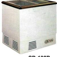 Sliding Flat Glass Freezer SD-132P / Freezer Ice Cream / Frozen Food