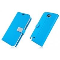 Capdase Folder Case Sider Polka Samsung Galaxy Note2 Biru